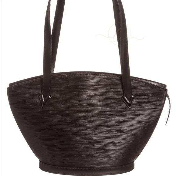 8cb53cec4c08 Louis Vuitton Handbags - Louis Vuitton Black Epi Leather St Jacques PM Bag